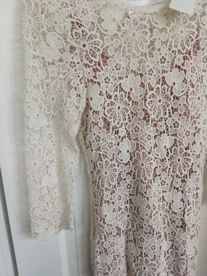 Fleur du Mal Ivory Nude Lace Cotton Silk Underneath Long Gown Sexy Wedding Dress Size 6 (S) Image 1