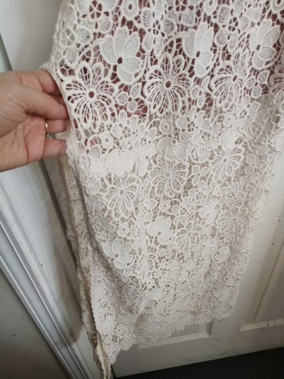Fleur du Mal Ivory Nude Lace Cotton Silk Underneath Long Gown Sexy Wedding Dress Size 6 (S) Image 2
