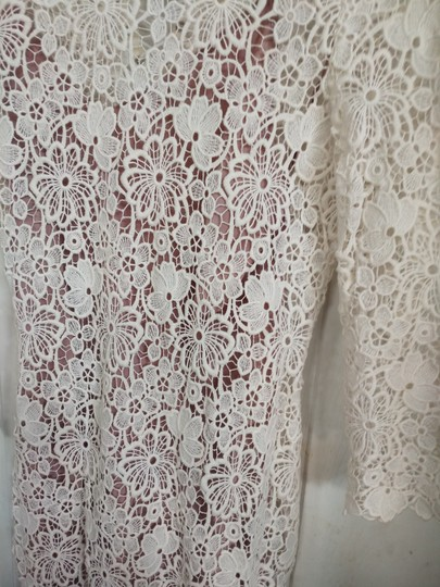 Fleur du Mal Ivory Nude Lace Cotton Silk Underneath Long Gown Sexy Wedding Dress Size 6 (S) Image 3