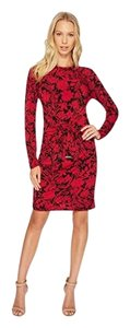 raspberry and black Maxi Dress by MICHAEL Michael Kors