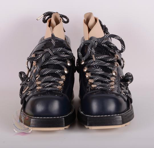 Acne Studios Navy Blue Boots Image 1