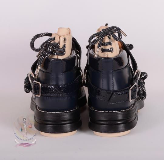 Acne Studios Navy Blue Boots Image 3
