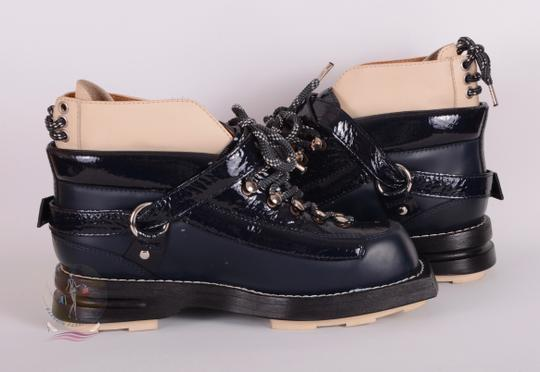 Acne Studios Navy Blue Boots Image 4