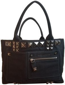 Marc Jacobs Canvas Studded Tote in Black