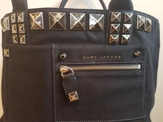 Marc Jacobs Canvas Studded Tote in Black Image 3