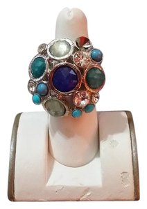 Ann Taylor LOFT NWOT Loft Stretch Ring in Silver tone, Blue, Teal, Turquoise
