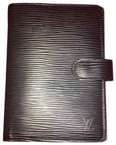 Louis Vuitton Louis Vuitton Noir Epi Leather Agenda PM