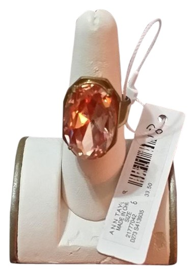 Preload https://img-static.tradesy.com/item/23167933/ann-taylor-peach-goldtone-size-8-with-color-oval-stone-ring-0-1-540-540.jpg