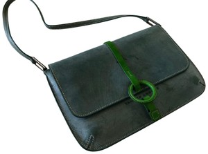 Tanner Krolle Blue with Green trim Clutch