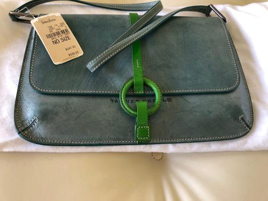 Tanner Krolle Blue with Green trim Clutch Image 1