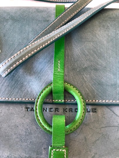 Tanner Krolle Blue with Green trim Clutch Image 3