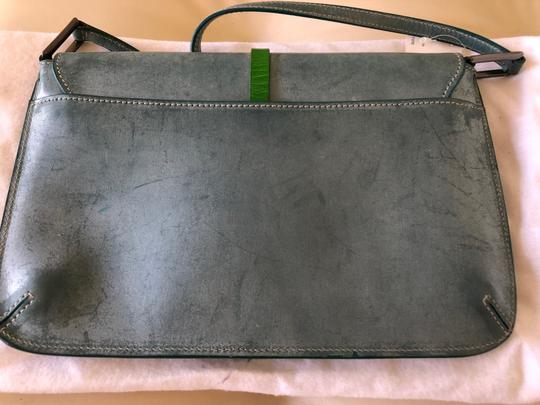 Tanner Krolle Blue with Green trim Clutch Image 5