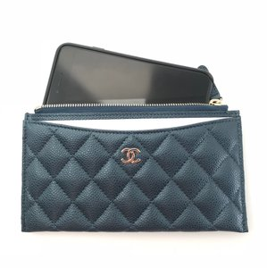 d5798c4f2123 Chanel Blue Classic O Case Phone Case Pouch Card Holder Wallet
