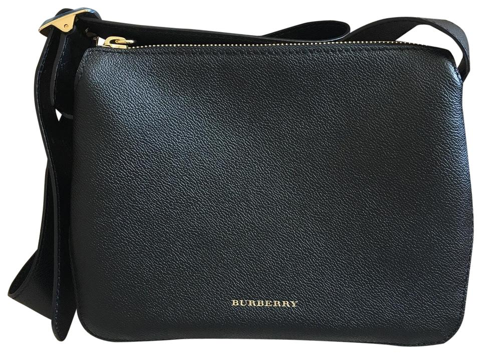 3c997834b570 Burberry Buckle Crossbody Black Leather Messenger Bag - Tradesy