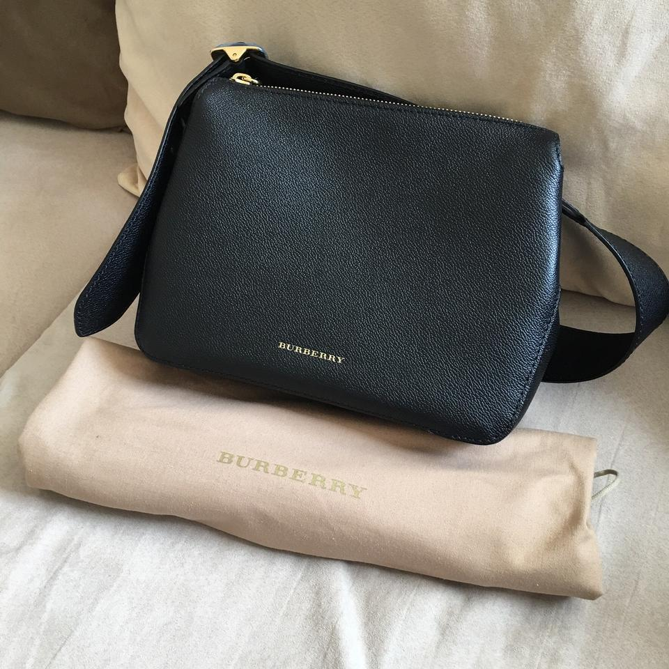 cd5c2c711c0a Burberry Buckle Crossbody Black Leather Messenger Bag - Tradesy