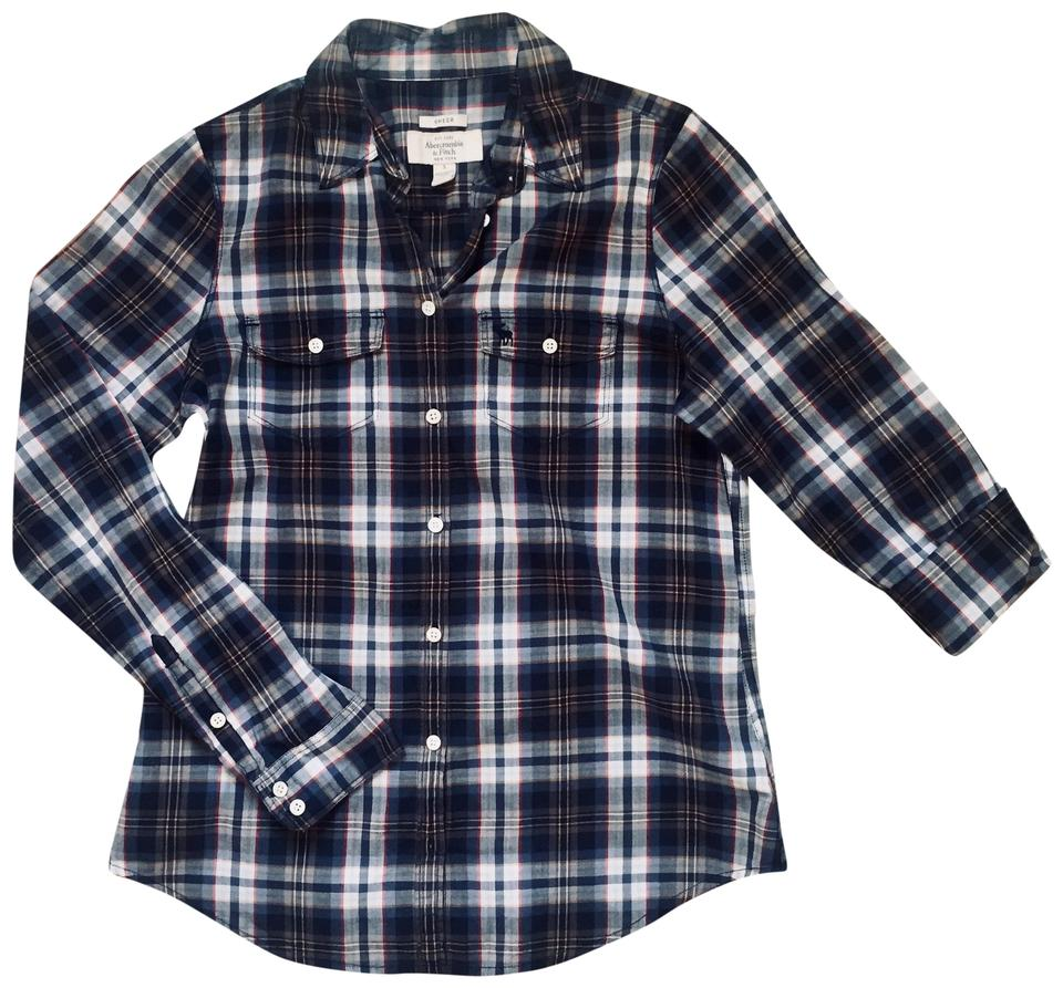 f6fa057d18b Abercrombie   Fitch Navy Button-down Top Size 4 (S) - Tradesy