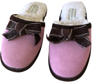 Patricia Green Pink with Brown trim Flats