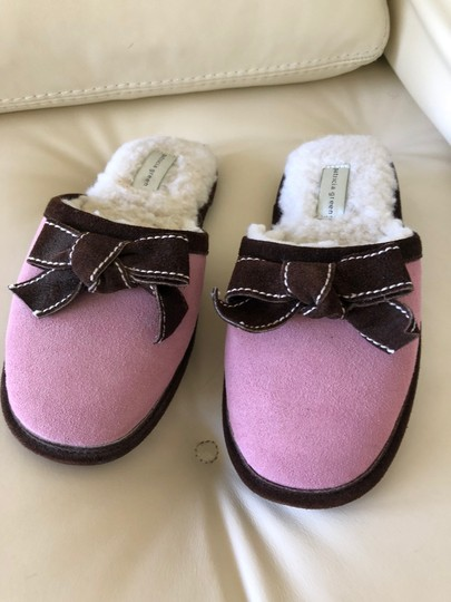 Patricia Green Pink with Brown trim Flats Image 2