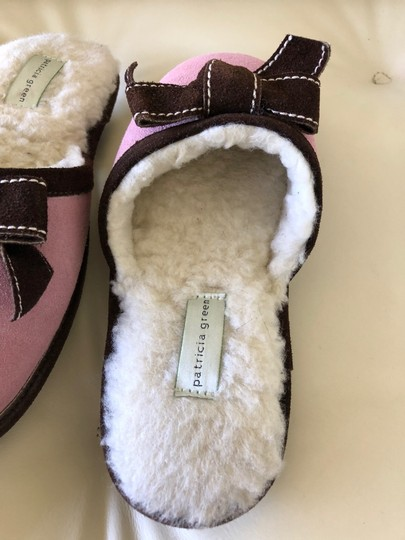 Patricia Green Pink with Brown trim Flats Image 3