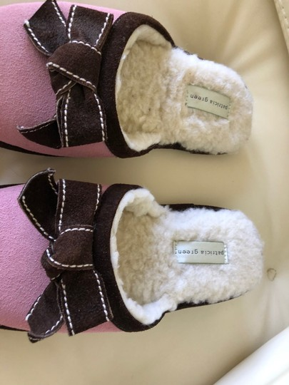 Patricia Green Pink with Brown trim Flats Image 4