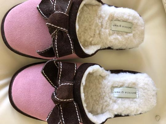 Patricia Green Pink with Brown trim Flats Image 5