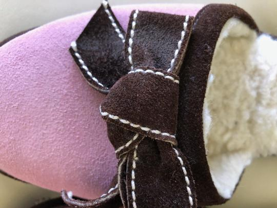 Patricia Green Pink with Brown trim Flats Image 7