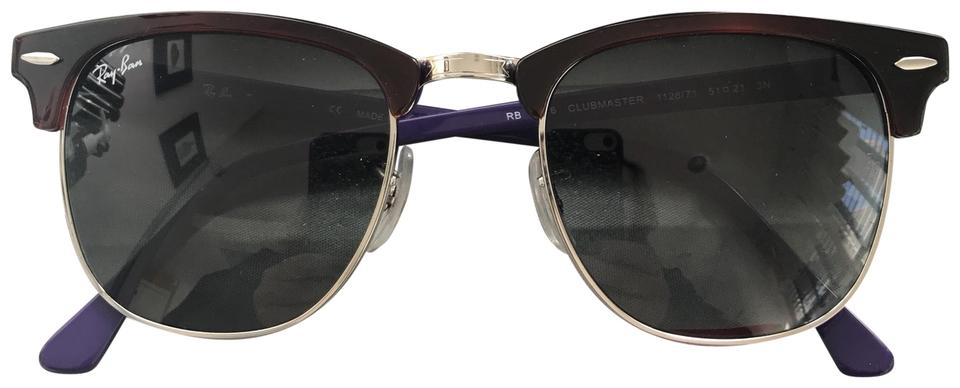 a1d7660b899 Ray-Ban Purple   Plum Club Master Sunglasses - Tradesy