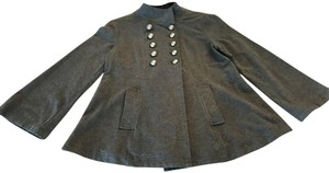 ivy jane Anthropologie New Embroidered Military Style Grey Jacket