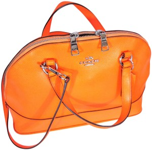 Coach Development Afficionado Satchel in Orange, Neon Orange