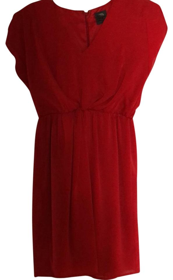 22256efeb8 Vince Camuto Red Twist Front V-neck Cocktail Dress. Size  2 (XS) Length   Short ...