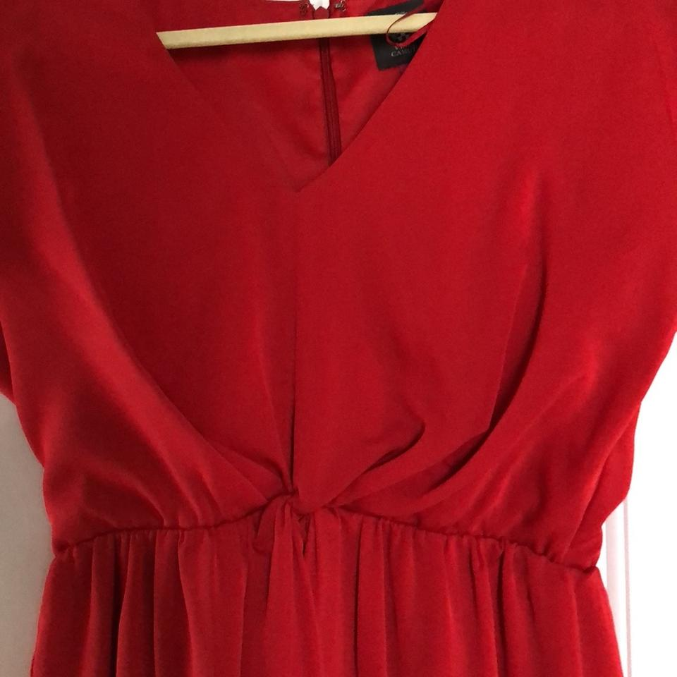 cd3f6601c6 Vince Camuto Red Twist Front V-neck Short Cocktail Dress Size 2 (XS) -  Tradesy