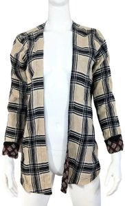 Anama Tartan Reversible Handkerchief Top Cream, Black, Multicolor