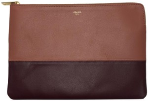 Céline Pouch Cosmetic Pouch Leather Laptop Pouch Purple Clutch