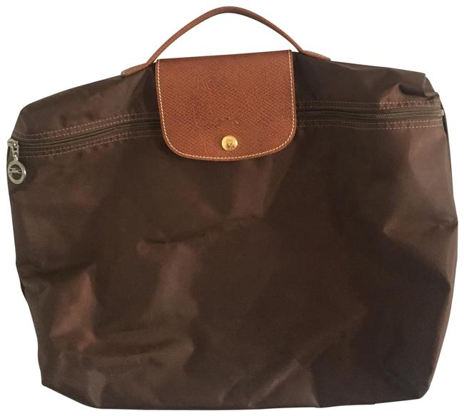 Item - Le Pliage Document Holder Briefcase Brown Nylon Tote