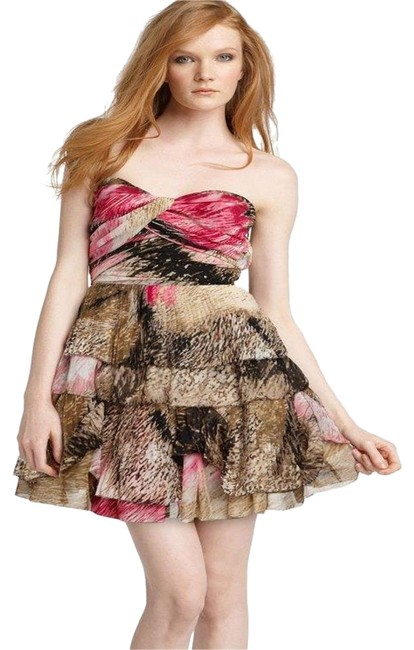 Item - Multicolor Dvf Brighton Pleated Chiffon Strapless Cocktail Short Night Out Dress Size 8 (M)