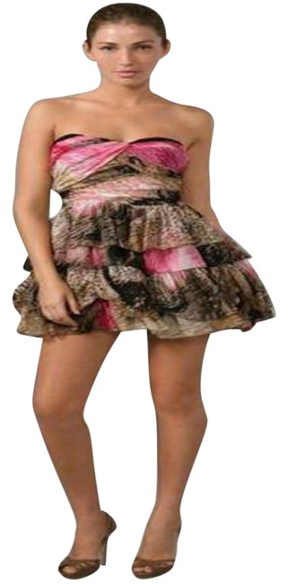 Item - Multicolor Dvf Brighton Pleated Chiffon Strapless Cocktail Short Night Out Dress Size 6 (S)