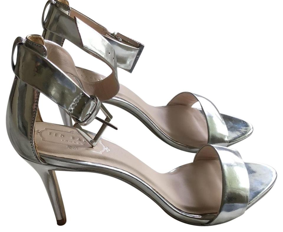 Ted Silver Baker Silver Ted Ankle Strap Heel Pumps 955d5b