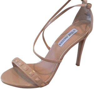 Steve Madden Studded Nude Patent Leather Sandals