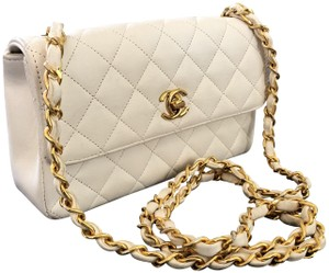 097552462846 Chanel Classic Flap Rare Vintage Extra Mini Gold Lambskin Leather ...