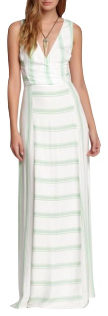 Preload https://item1.tradesy.com/images/ella-moss-green-and-white-anabel-long-casual-maxi-dress-size-4-s-2316935-0-2.jpg?width=400&height=650