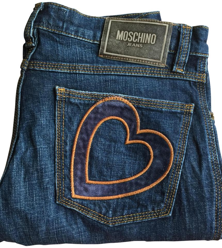 premium selection 41c37 7aa90 Moschino Blue Medium Wash Donna Boot Cut Jeans Size 30 (6, M)