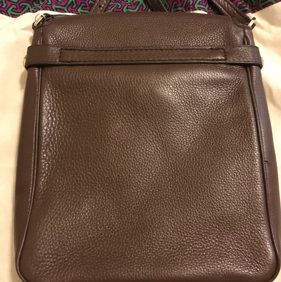 Burch Leather Dark Body Bag Cross Brown Mercer Tory RAqnOw8dd