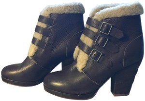 See by Chloé Heels Shearling Brown Boots