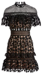 7073628f61ea4 self-portrait Lace Crochet Mini Dress