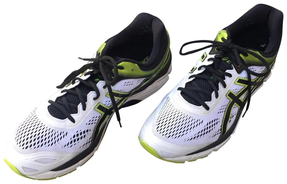 sports shoes af56c 888a5 Asics White with Black and Green Ankle High Fabric Running Shoe. Gel Pursue  2 Sneakers Size US 15 Regular (M, B) 61% off retail