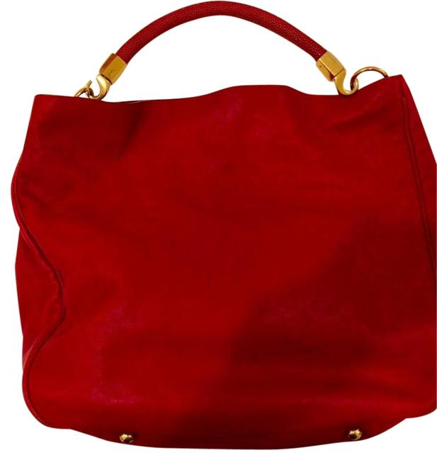 Item - Roady With Stingray Handle Sac Red Leather Hobo Bag