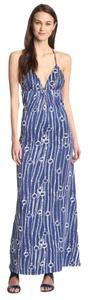 Blue White Maxi Dress by Julie Brown Jb By