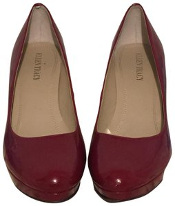 Ellen Tracy Patent Leather Red Pumps