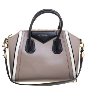 Givenchy Leather Small Antigona Satchel in Beige