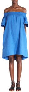 APIECE APART short dress Aegean Crete Blue Smocked on Tradesy